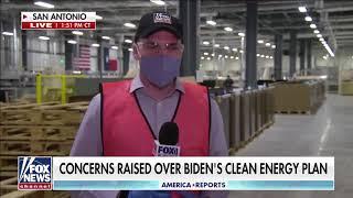 Screenshot of Fox News report on President Biden's clean energy plan